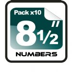 "8.5"" Race Numbers - 10 pack"